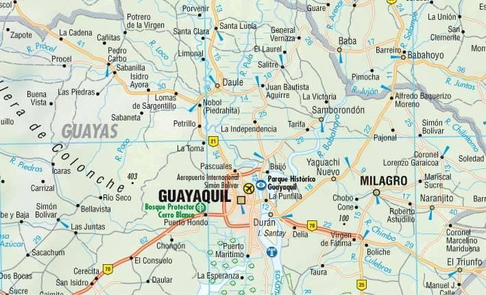 Maps Road maps atlases Ecuador