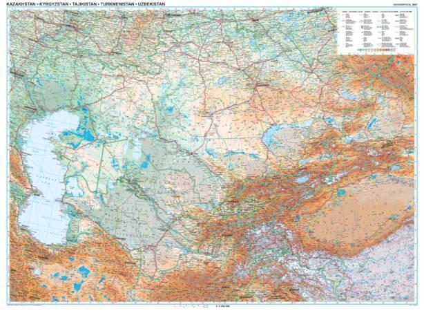 Maps - Road maps, atlases - Kazakhstan, Kyrgyzstan, Tajikistan ...