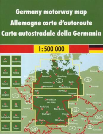 Maps Road Maps Atlases Deutschland Autobahnkarte