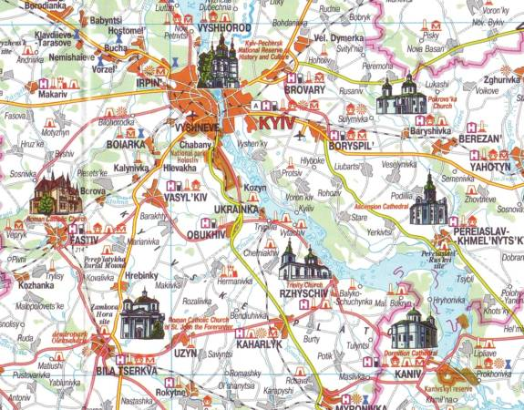 Maps Tourism maps Ukraine Tourist map