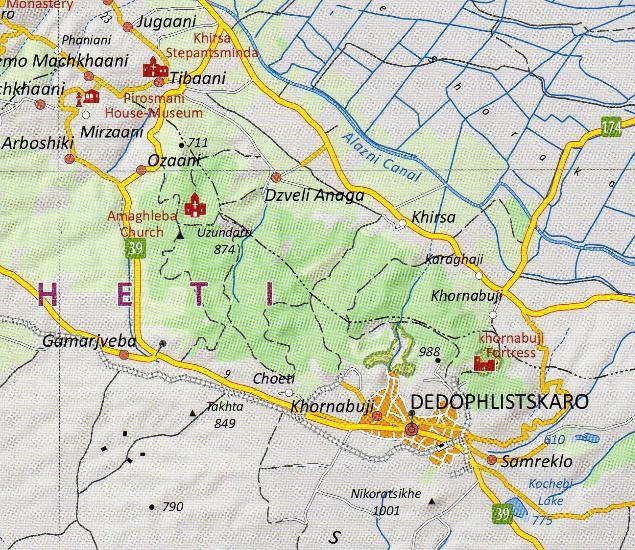 Map Of Kakheti Georgia.Maps Road Maps Atlases Kakheti Tusheti 1