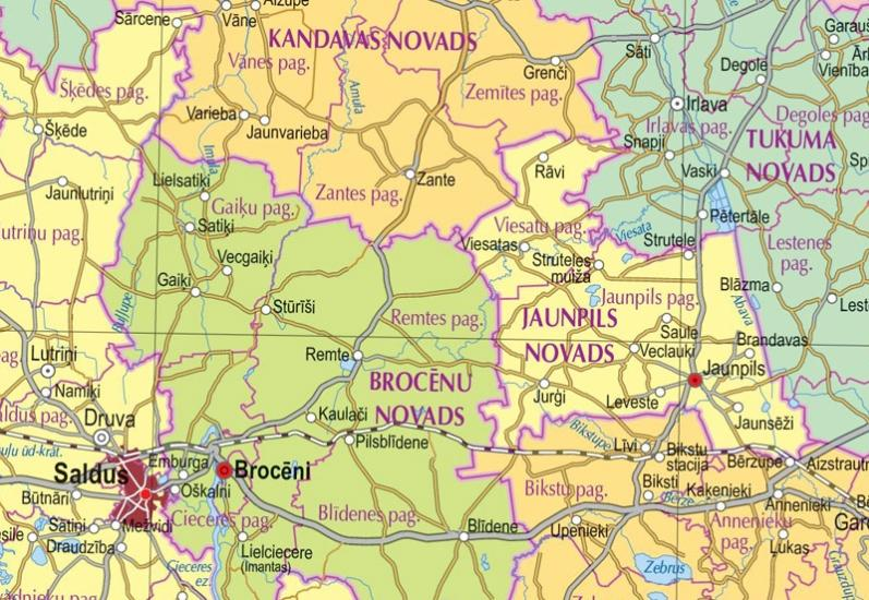 Maps Wall maps Latvijas administratv karte