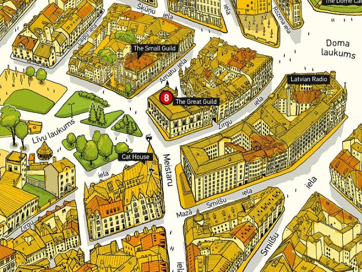 Maps Tourism maps Old Riga AltRiga