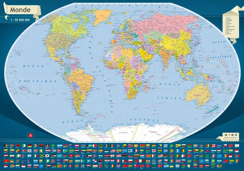 Carte Du Monde Map.Maps Wall Maps Carte Du Monde A Gratter