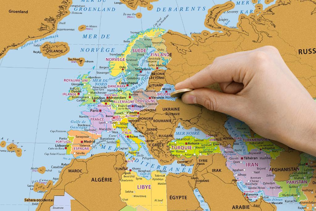 Carte Monde.Maps Wall Maps Carte Du Monde A Gratter