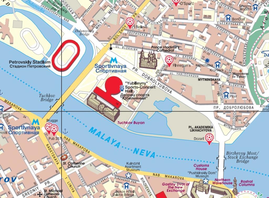 Maps City Maps Atlases Saint Petersburg City Map For Visitors