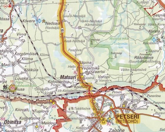 Maps Tourism maps Tartu Petseri huvitee